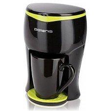 Кофеварка POLARIS PCM0109, капельная, черный / салатовый