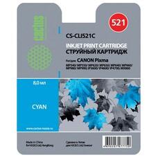 Картридж CACTUS CS-CLI521C голубой