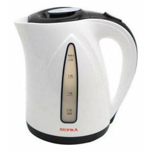 Чайник электрический SUPRA KES-2004, 2200Вт, серый и белый