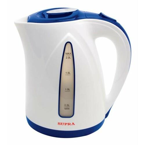 Чайник электрический SUPRA KES-2004, 2200Вт, синий и белый