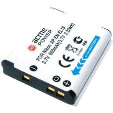 Аккумулятор ACMEPOWER AP-EN-EL19, Li-Ion,  3.7В,  600мAч,  для компактных камер Nikon CoolPix S100/S2500/S2550/S2600/S3100/S3300/S4100/S4150/S4300/S6400