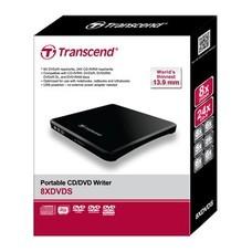 Привод DVD-RW Transcend TS8XDVDS-K черный USB slim внешний RTL