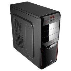 Корпус ATX AEROCOOL V3X, Midi-Tower, без БП, черный и красный