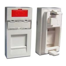 Вставка Lanmaster LAN-SIP-22M-WH 1xKeystone 1/2 Mosaic белый упак:1шт