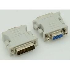 Переходник DVI DVI-I(m) - VGA (f), серый