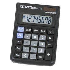Калькулятор CITIZEN SDC-011S, 8-разрядный, черный
