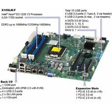 "Платформа SuperMicro SYS-5018D-MTF 3.5"" SAS/SATA C224 1G 2P 1x350W"