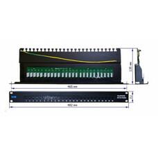 "Патч-панель Lanmaster (TWT-PP25TEL45) 19"" 1U 25xRJ-12 UTP"