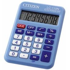 Калькулятор CITIZEN Cool4School, LC-110NBL, 8-разрядный, голубой