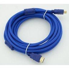Кабель HDMI Ver.1.4 Blue jack HDMI(19pin)/HDMI(19pin) (1.8м) феррит.кольца Позолоченные контакты