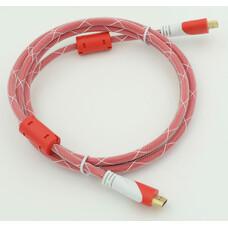 Кабель аудио-видео HDMI (m) - HDMI (m) , ver 1.4, 1.8м, GOLD ф/фильтр, красный