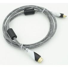 Кабель HDMI Ver.1.4 Black jack HDMI(19pin)/HDMI(19pin) (1.8м) феррит.кольца Позолоченные контакты