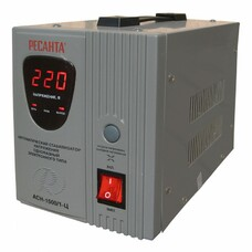 Стабилизатор напряжения РЕСАНТА АСН-1500/1-Ц, 1.5кВт серый