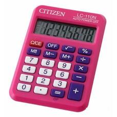Калькулятор CITIZEN Cool4School, LC-110NPK, 8-разрядный, розовый