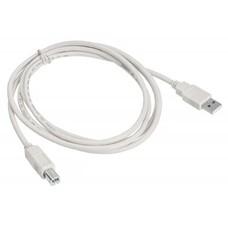 Кабель USB2.0 BURO USB A(m) - USB B(m), 1.8м, серый [usb2.0-am/bm]