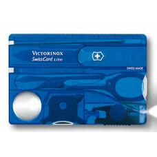 Швейцарская карта Victorinox SwissCard Lite (0.7322.T2) синий полупрозрачный коробка подарочная