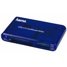 Картридер внешний HAMA H-55348, синий [00055348]
