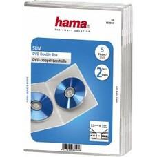 Коробка HAMA H-83892 Slim Case, 5шт., прозрачный, для 2 дисков [00083892]