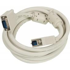 Кабель SVGA NINGBO CAB016S-10F, VGA (m) - VGA (m), ферритовый фильтр , 3м, блистер, серый [cab016s-10f-br]