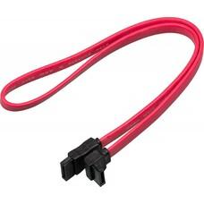 Кабель SATA TL-ATA-DATA-RA, SATA (прямой) - SATA (угловой), плоский, 0.45м, красный