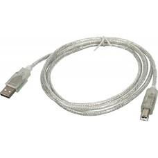 Кабель USB2.0 NINGBO USB A(m) - USB B(m), 1.8м, прозрачный
