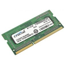 Модуль памяти CRUCIAL CT25664BF160BJ DDR3L - 2Гб 1600, SO-DIMM, single rank, Ret