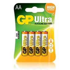 Батарейка GP Ultra Alkaline 15AU LR6, 4 шт. AA