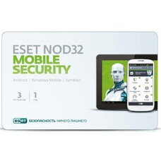 ПО Eset NOD32 NOD32 Mobile Security 3 устройства 1 год Base Card (NOD32-ENM2-NS(CARD)-1-1)