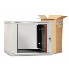 Шкаф коммутационный ЦМО (ШРН-Э-9.500) 9U 600x520мм пер.дв.стекл несъемн.бок.пан. серый