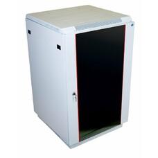Шкаф коммутационный ЦМО ШТК-М-18.6.8-1ААА 18U 600x820мм пер.дв.стекл задн.дв.стал.лист 2 бок.пан. направл.под закл.гайки 270кг серый