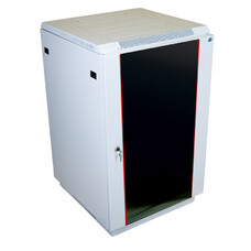 Шкаф коммутационный ЦМО (ШТК-М-27.6.6-1ААА) 27U 600x600мм пер.дв.стекл задн.дв.стал.лист 2 бок.пан.