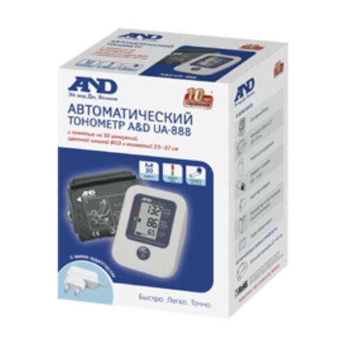Тонометр автоматический A&D UA-888AC M-L, (с адаптером питания), 23-37см