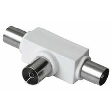 Сплиттер антенный HAMA 00122471, Coax (f) - Coax (m) , белый