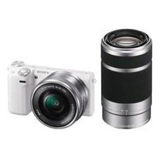 Фотоаппарат SONY Alpha A6000YS kit ( E PZ 16-50мм f/3.5-5.6 OSS и E 55-210мм f/4.5-6.3 OSS), серебристый [ilce6000ys.cec]