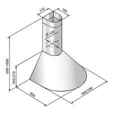 Вытяжка каминная Elikor Эпсилон 60П-430-П3Л ваниль/золотистый управление: ползунковое (1 мотор) [кв ii м-430-60-50]