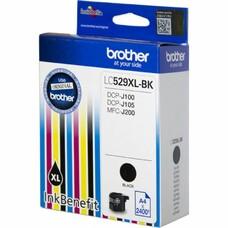 Картридж струйный Brother LC529XLBK черный для Brother DCP-J100/J105/J200 (2400стр.)