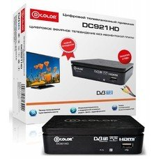 Ресивер DVB-T2 D-COLOR DC921HD, черный