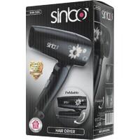 Фен SINBO SHD 7034, дорожный, 1000Вт, белый и рисунок