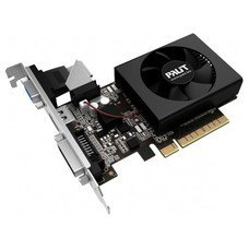 Видеокарта PALIT nVidia GeForce GT 730 , PA-GT730K-2GD3H, 2Гб, DDR3, Low Profile, oem [neat7300hd46-2080h bulk]