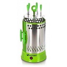 Шашлычница электрическая Kitfort KT-1402 1000Вт зеленый
