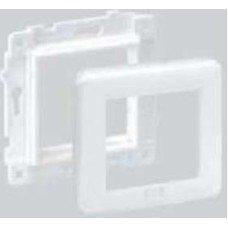 Суппорт и рамка Brand-Rex (MMCWDOUNI115) 80х80 мм цвет белый