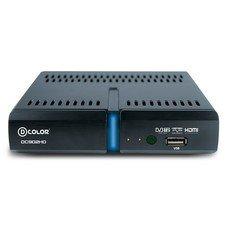 Ресивер DVB-T2 D-COLOR DC902HD, черный