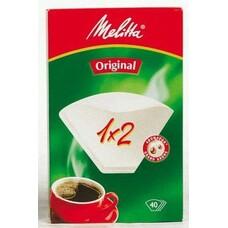 Фильтры для кофе FILTERO №2, для кофеварок капельного типа, бумажные, 40 шт, белый [№2/40]