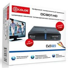 Ресивер DVB-T2 D-COLOR DC910HD, черный