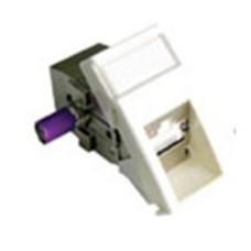Модуль информационный Molex (MLG-00035-02) 22.5x45 RJ45 кат.6A белый
