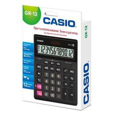 Калькулятор настольный Casio GR-12 черный 12-разр.